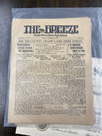 This copy of The Breeze is from November, 1925. It is in its sixth school year of printing, and is still around today.