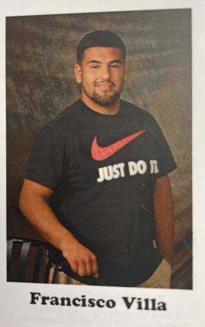 """2015 alumnus Francisco """"Paco"""" Villa pictured in the yearbook."""