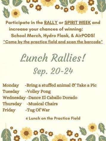 School Spirit Week, Sept 20th-24th